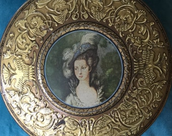 A Vintage Repousse  Biscuit Tin - Huntley and Palmer