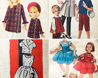 4 VTG 50's/60's sz 4 Childs' Sewing Patterns Dresses Suit Separates (0272)