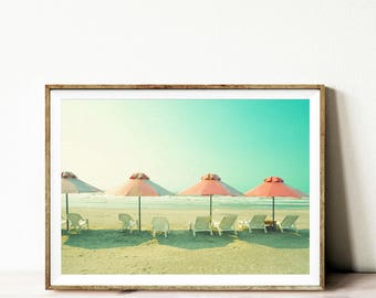Beach print, digital download, beach printable poster, instant download, digital prints, beach printable art, modern wall art, minimalist