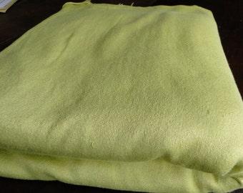 Lemon Lime Velvety Vintage Fabric - One Yard