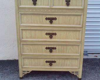 on hold Vintage Mid Century Shangri La Tall Dresser For Dixie Furniture