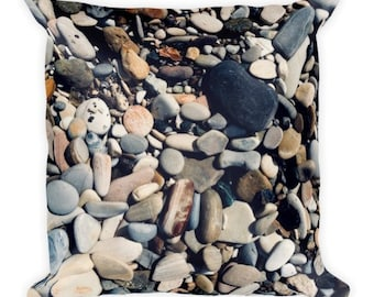 Soft as Stones D - pebble pillow - Home Decor Pillow Covers - 2 sizes available