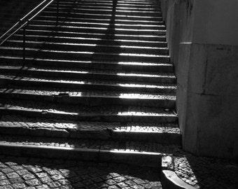 Lisbon, photography, travel photography, light and shadows, black and white photography, European art, wall art, print, decor, fine art