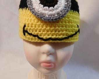 Toddler's Crocheted Minion Hat