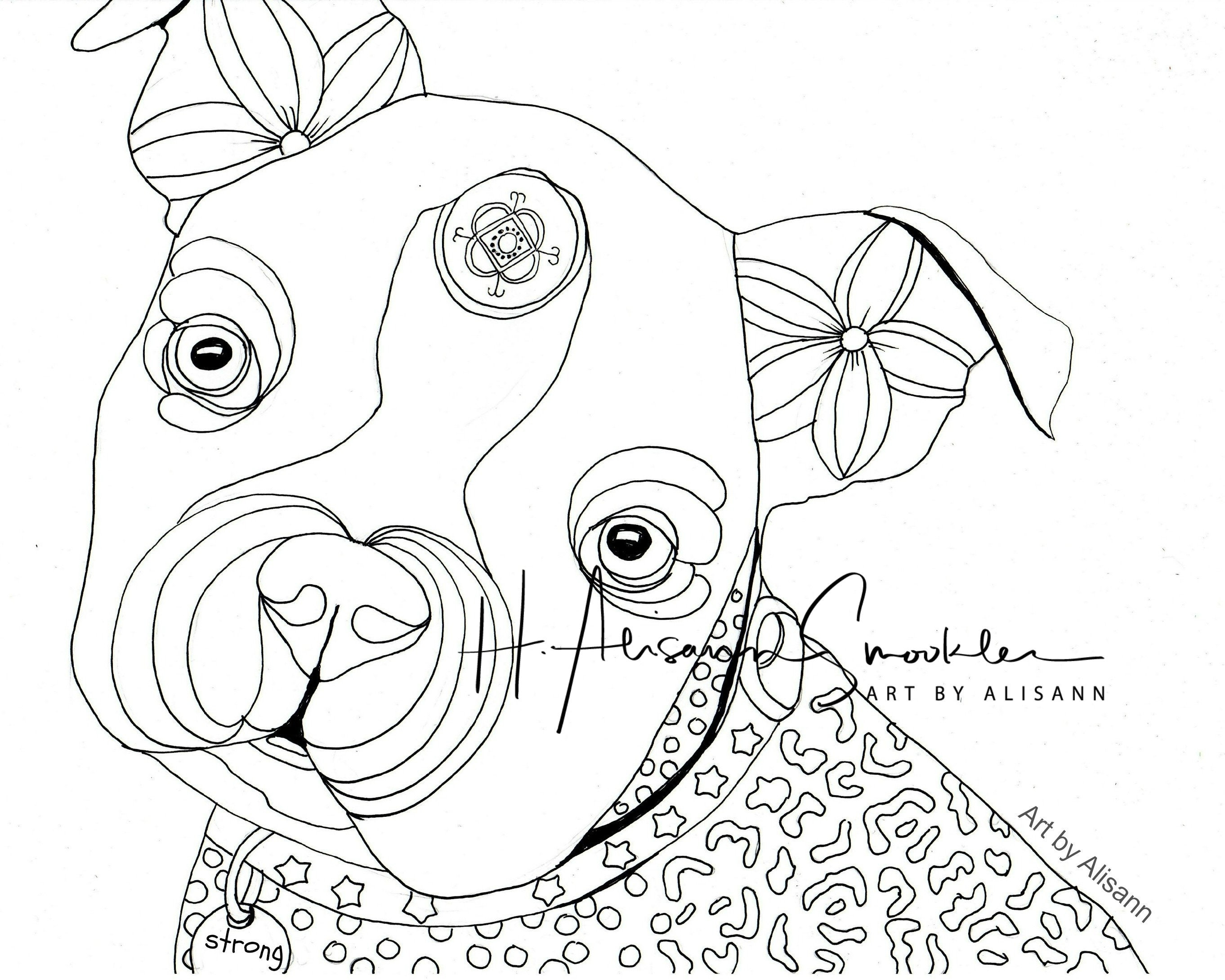 Boston Terrier Boston Bull Terrier Dog Coloring Page