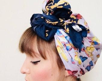 Designer Vintage Headscarf