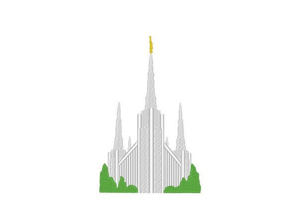 Portland Oregon Temple Simple Small Embroidery Machine Design From