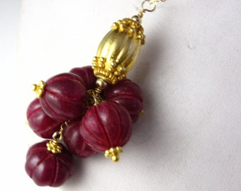 Ruby Bulb Cascade Necklace
