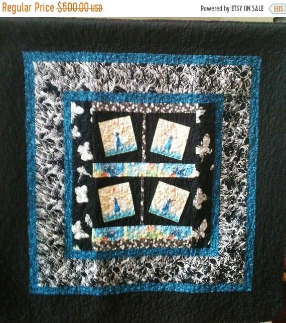 Hello Summer Sale Rejoice Always a 50 x 50 inch ethnic art quilt