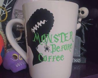 Bride of Frankenstein 'Monster Before Coffee' mug