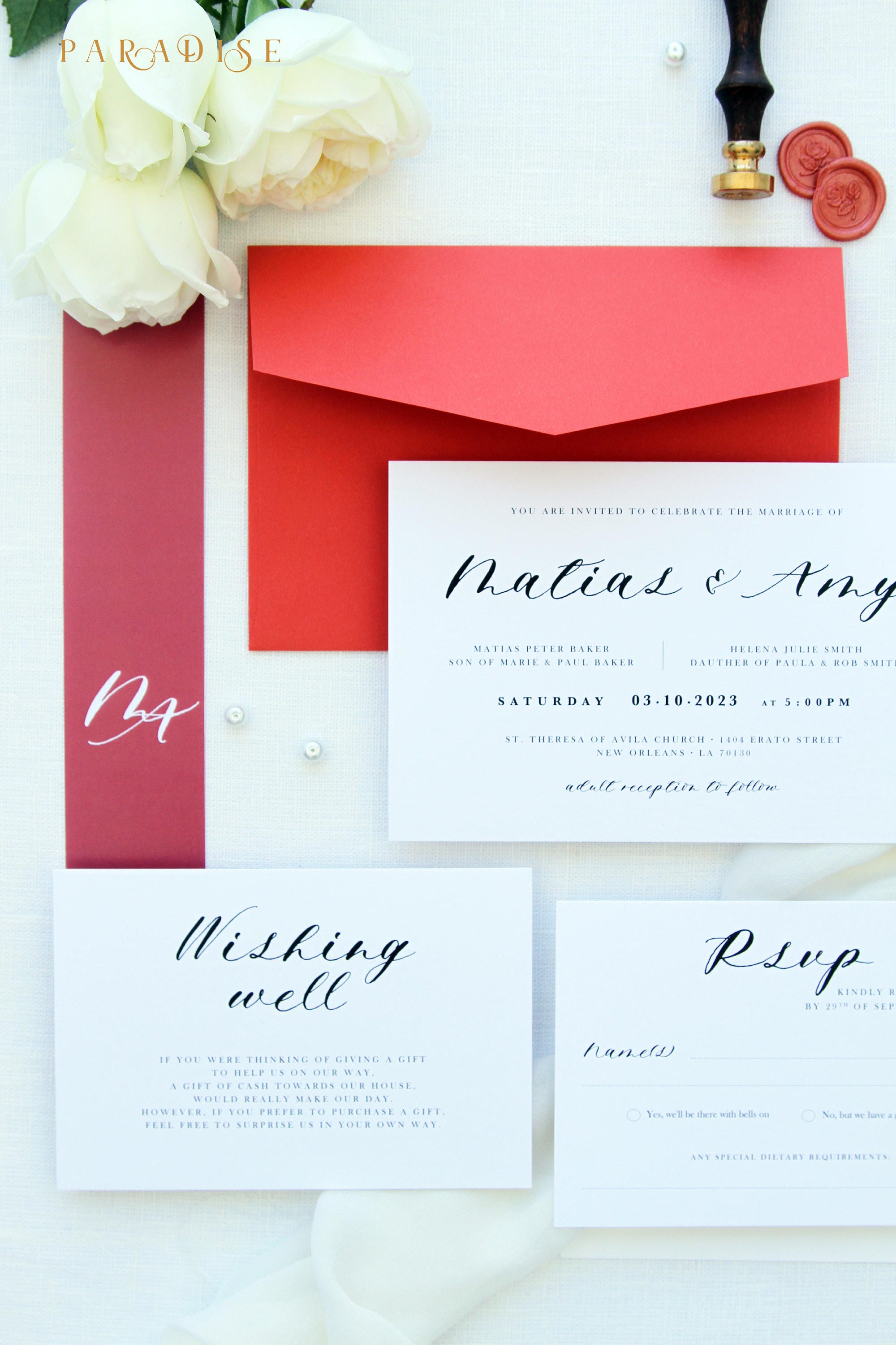 Amy Coral Wedding Invitation Sets Coral Beach Wedding