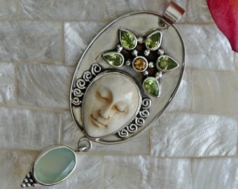 Sterling Silver Balinese Goddess Pendant