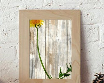 Little Dandelion, Rustic, Boho Art Print Wall Decor