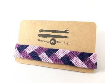 "Braid Pattern Friendship Bracelet ""Violet Braid"""