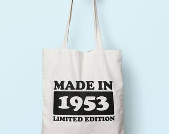 Made In 1953 Limited Edition Tote Bag Long Handles TB1716