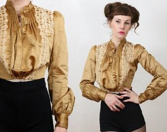 1800s Gold Satin Jacket
