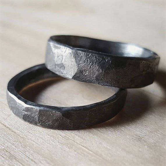 wedding silver rings copper mens hand metal handmade buy ring mixed forged by a crazyassjewelry crafted made custom band