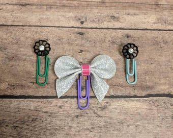 Button and bow paperclips