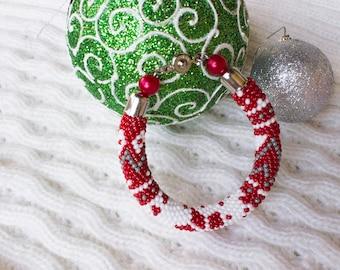 """Bead Crochet Rope Bracelet """"Sweaterok"""""""