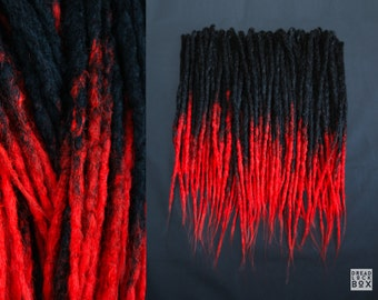 Black | Red | Ombre | Synthetic | Dreadlocks | Dreads | Pieces 10-100 | Hand-Made | SE | DE