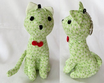 Stuffed animal Cat Soft Toy Keyring 16 cm tall
