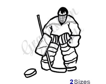 Hockey Goalie - Machine Embroidery Design