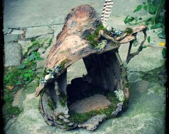 Elfin Driftwood Hut