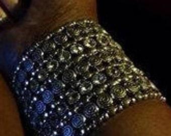 Silvertone Goddess Bracelet