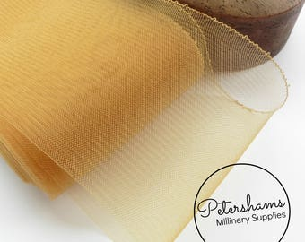 15cm (6 inch) Wide Crinoline (Crin, Horsehair Braid) for Hats, Millinery, and Fascinators - Gold