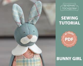 PDF Sewing Pattern, Sewing Tutorial, Easter Ornament Pattern, Easter Bunny / Rabbit Pattern (in English)