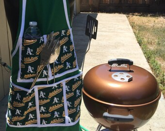 Mens bib style long apron, barbecue aprons, summertime aprons for the grill master,