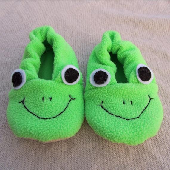Frosch-Slipper-Schuh-Stiefel-Schnittmuster PDF. Baby Kleinkind