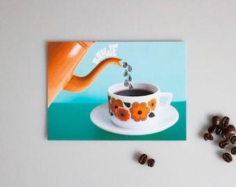 A6 Map Tray Comfort/postcard, stationery, friendship, love, retro, vintage, coffee