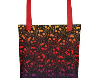 Rainbow Skull Tote Bag