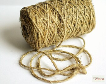 Linen Twine Natural 131 yards, 5 mm / Linen Rope Natural / Linen Cord Natural / 1 spool / Linen String Natural