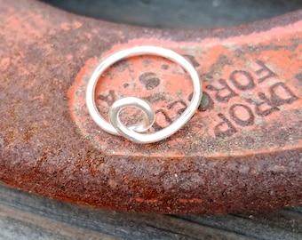 Loop Midi Ring - Sterling Silver - Infinity Ring