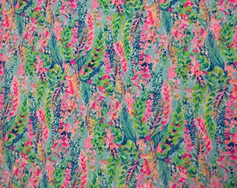 CATCH THE WAVE Spring  fabric 18x18 or 18x9 Lilly