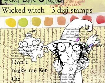 Wicked Witch digi stamp set