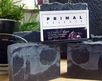 Activated Charcoal Soap Bar   Essential Oil   Facial Soap   All Natural Soap  Acne skin   Handmade Soap   Vegan Soap   Cold Process Soap