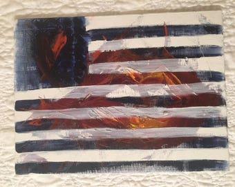 Kissed Flag Oil Painting