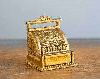 Vintage Miniature Metal Cash Register