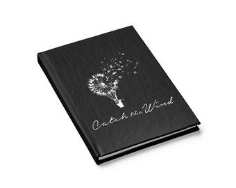 Journal  Ruled Line, catch the wind, personalized journal, special request, custom design journal