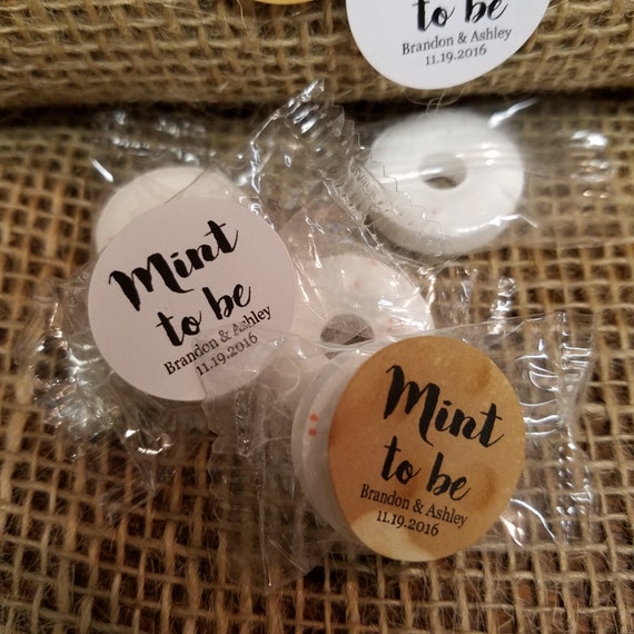 """Mint to Be SMALL 1"""" STICKER Personalized Wedding Engagement Shower Favor STICKER choose your amount"""