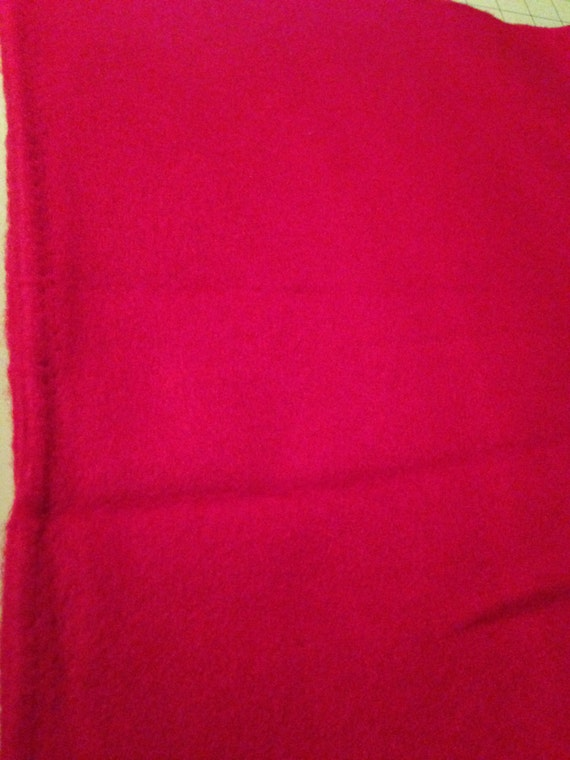Bright Red Fleece Sewing Fabric F19