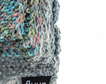 handknit / scarf / HERMINE // ooak / vegan suitable