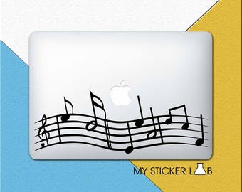 MacBook Sticker MacBook Decal Music Notes Laptop Decal Laptop Sticker MacBook Air Pro Retina 11 13 15 12 Melody Musical Vinyl Symbols m1312