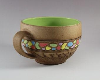 Unique Ceramic Handmade Mug, Large Coffee Mug, Ceramic Tea Mug, Ceramic Mug, Mug – Pottery, 17 oz mug, Gift for her