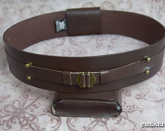 Star Wars Jedi/Sith Belt Genuine leather black or brown with pouch, Buckle #2 style