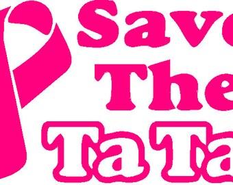 Save the Tata's Window decal