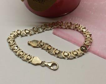 Link bracelet silver 925 precious rar SA162